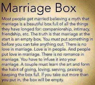 Do you think Marriage is like a box? Think again.. {http://www.PureMatrimony.com/}