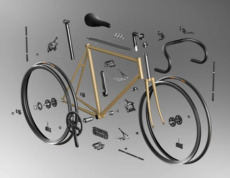 Before starting a set-up of track bicycle, I made some renders for check up details and specifications.