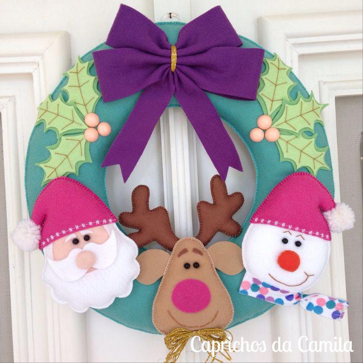 Guirlanda de natal em feltro foami navidad pinterest - Para navidad manualidades ...