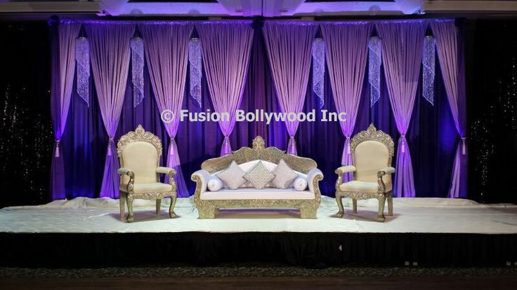 purple draping with crystal , gives real royal feel to your event .
