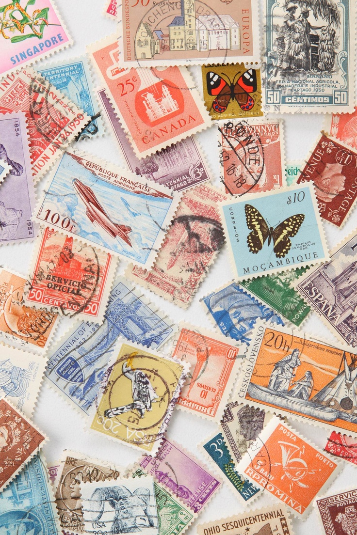 Vintage stamps remind us of a by-gone era that was magical | comfort in the past.