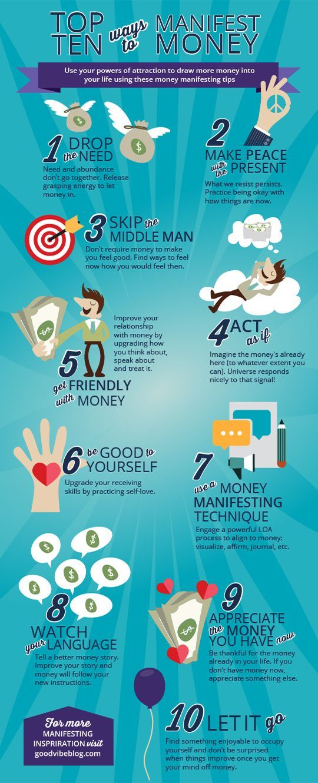Top 10 Ways to Manifest Money GoodVibeBlog.com