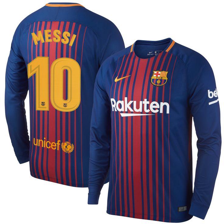 Barcelona Shirt Thuis 2017-2018 (Lange Mouwen)  Messi 10