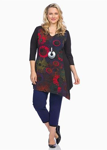 #TS Red Vision Tunic #plussize #curvy #takingshape