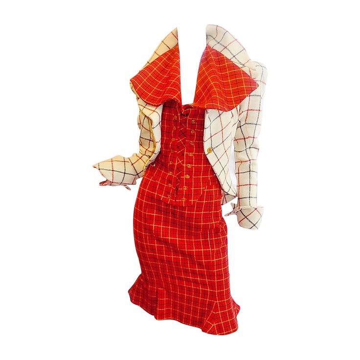 """Vivienne Westwood """"The Harris Tweed"""" collection 3 pc corset suit  Numbered RARE! 
