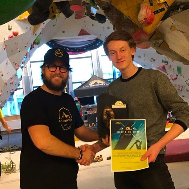 "180 likerklikk, 1 kommentarer – La Sportiva Norge (@lasportivanorge) på Instagram: ""This guy is the winner of the Golden shoe at the La Sportiva Challenge today at Tyrili Klatring -…"""