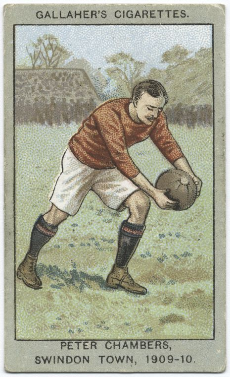 Peter Chambers, Swindon Town, 1909-10. From New York Public Library Digital Collections.