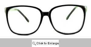 Cass 80's Clear Glasses - 184 Black