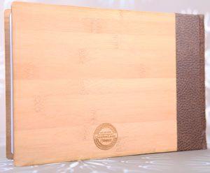 An option to brand the back cover. Cappuccino Custom Bamboo - Studio22. Www.coffeetablebooks.co.za