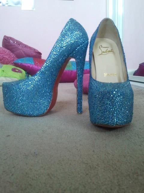 Blue Sparkly Heels Tumblr