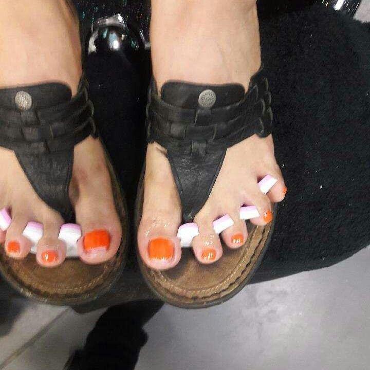 Basic Orange Pedicure
