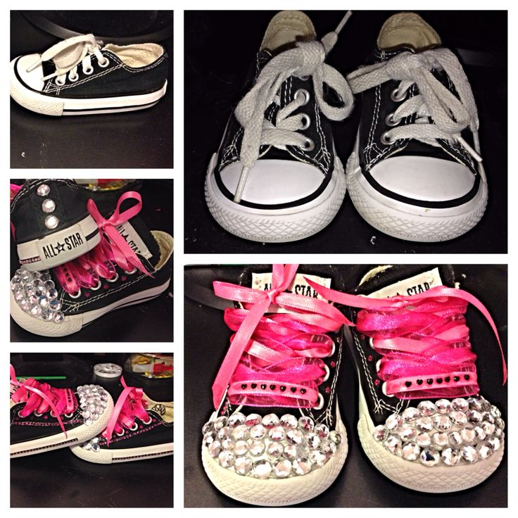 Baby Black Converse Shoes