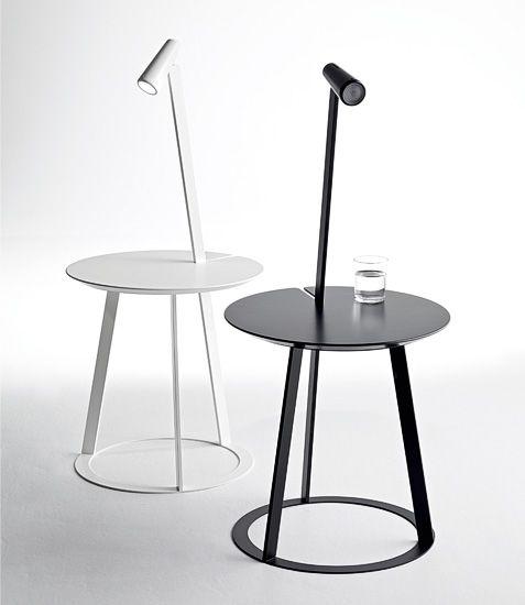 design bijzettafel: met afneembaar magnetische ledlamp en afneembaar blad