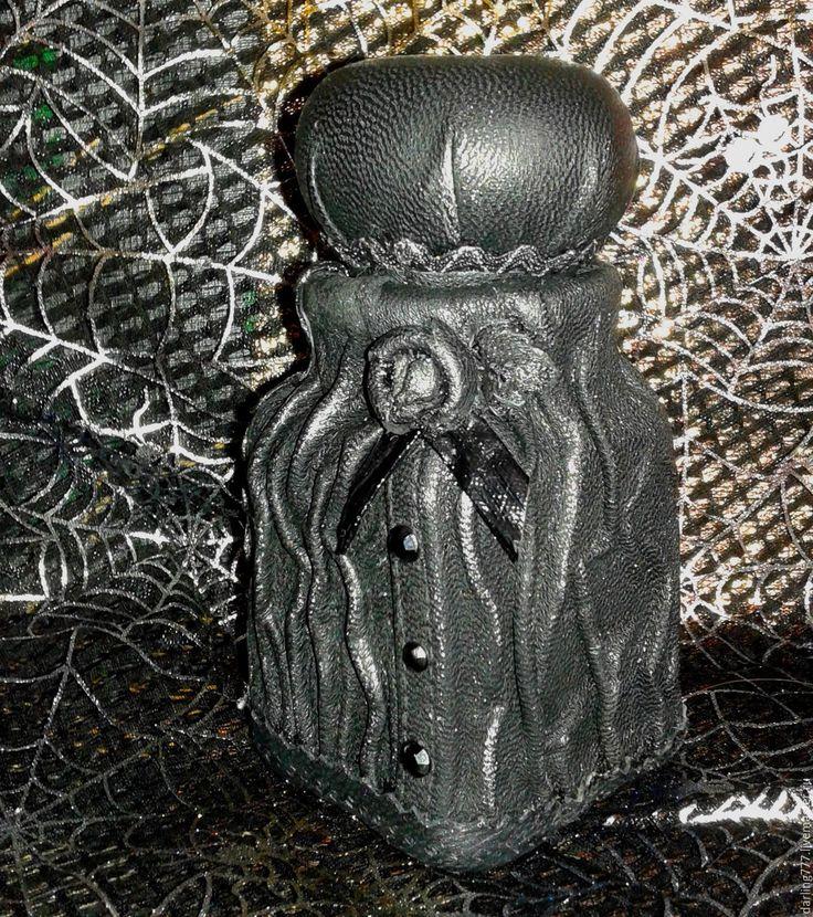 Купить Черная вдова. Бутылочка для зелий. - черный, ведьмина бутылочка, колдовская бутылка, колдовское зелье