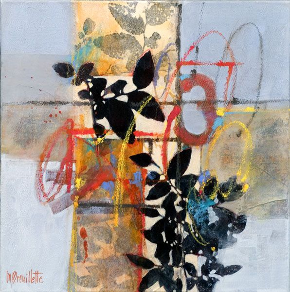Red 3    Mixed Media on canvas (original of Crate & Barrel print)    12 x 12  Copyright © 2009 by Maureen Brouillette