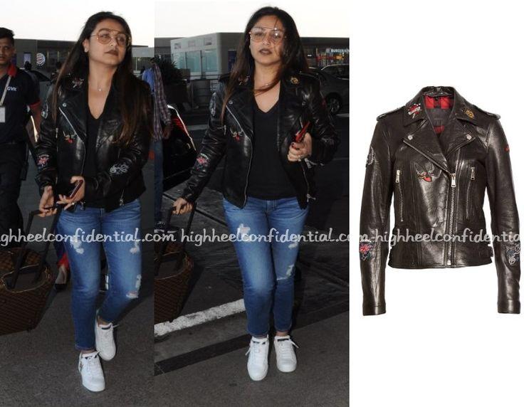 Rani in Belstaff jacket, Celebrity fashion, Indian Style, celebrity style, Fashion, Indian Celebrity Fashion, Indian Fashion, Indian Celebrities, Indian Designer