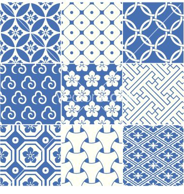 Vintage japanese traditional pattern vector - by paul_june on VectorStock®