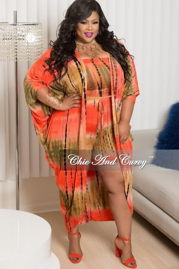 435dd7cfe7 Plus Size Tie Dye 3-Piece Short Set with Orange, Green, Rust – Chic And  Curvy | Chic And Curvy Boutique | Chic, curvy, Dresses, Big girl fashion