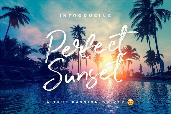 Perfect Sunset Typeface by WornOutMedia Co. on @creativemarket