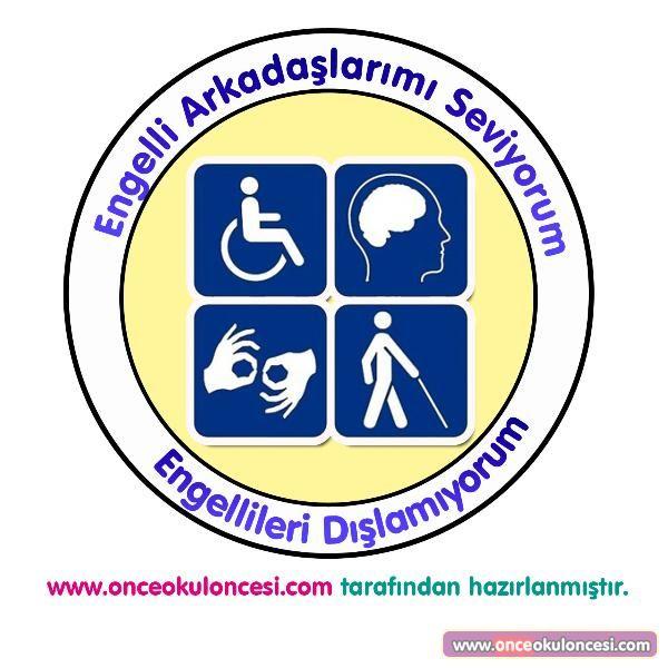 Engelliler Haftası İçin Yaka Kartı Etkinliği (Kalıplı) - Önce Okul Öncesi Ekibi Forum Sitesi - Biz Bu İşi Biliyoruz