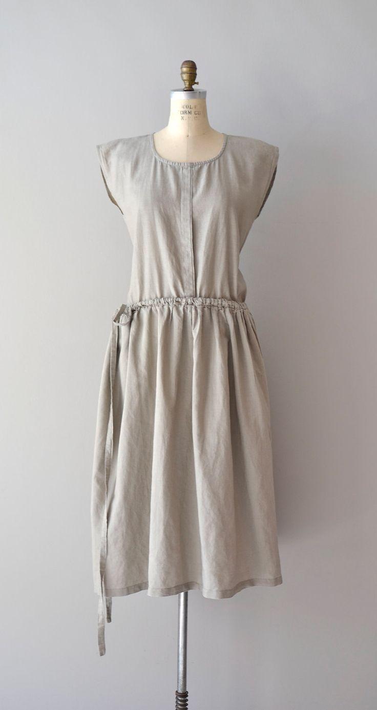 vintage sack dress / linen dress / Oyster tent от DearGolden