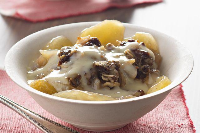 Slow-Cooker Apple Crisp with Warm Vanilla Sauce