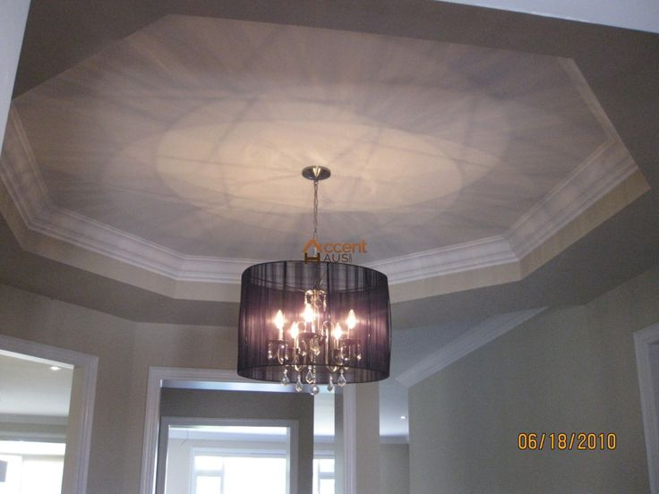 Waffle Ceiling With Molding in Bedroom in a House Bolton