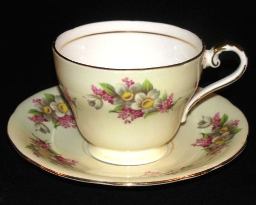 Aynsley Pastel Yellow Floral Blossoms Teacup