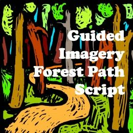 Coping skills, calming skills & distraction techniques - Developing a soothing story for times of high anxiety & stress. - Guided Imagery Forest Path Script mindfulness meditation