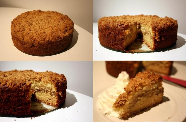Fantastic Apple Sour Cream Coffee Cake Recipe - Food.com - 89750  Very good! Skip the nuts in the topping. Don't cut the sugar too much. Increase topping.