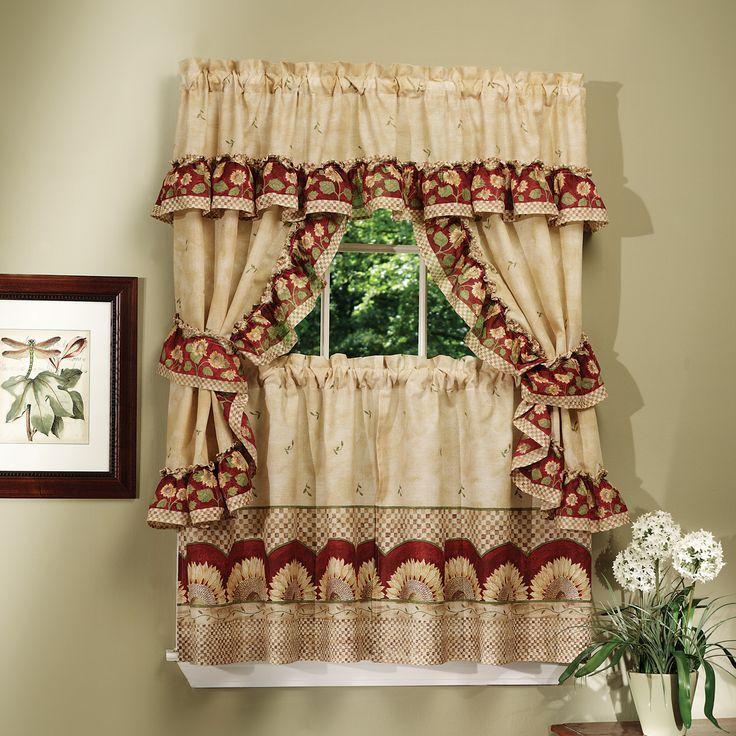 Sunflower Cottage Kitchen Curtain Set