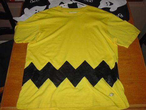 DIY Charlie Brown Halloween costume!