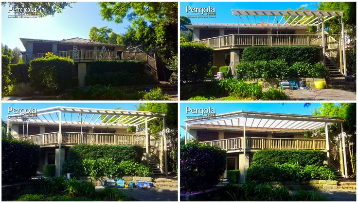 Job Progress: Exposed verandah to covered outdoor living area.
