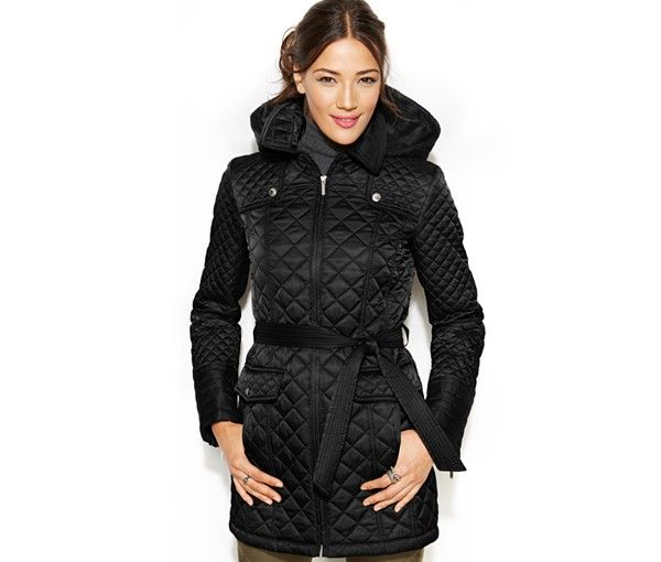 Laundry by Design Hooded Quilted Jacket - Coats - Women - Macy's