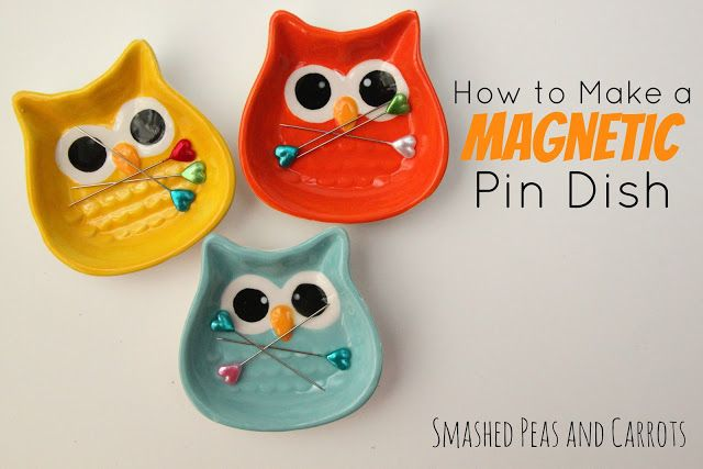 This is a must try - keep your floors clear of pins with cute magnetic dishes!
