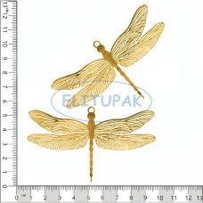 Золотая коллекция Стрекоза 2 шт в упаковке - Металлическая фурнитура и декор-124 2шт