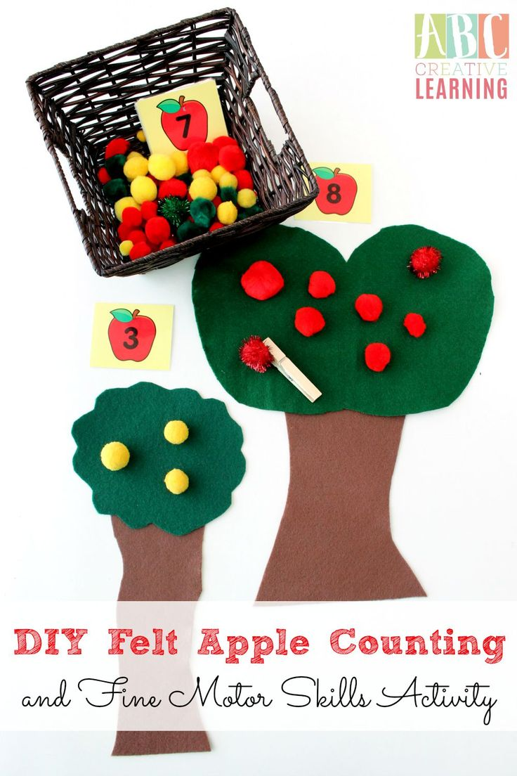 DIY Felt Apple Counting and Fine Motor Skills Activity from ABC Creative Learning
