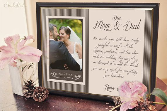 Parents Gift Wedding: 25+ Best Ideas About Parent Wedding Gifts On Pinterest