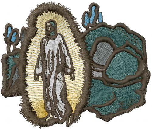 Free Resurrection Of Jesus Embroidery Design | AnnTheGran