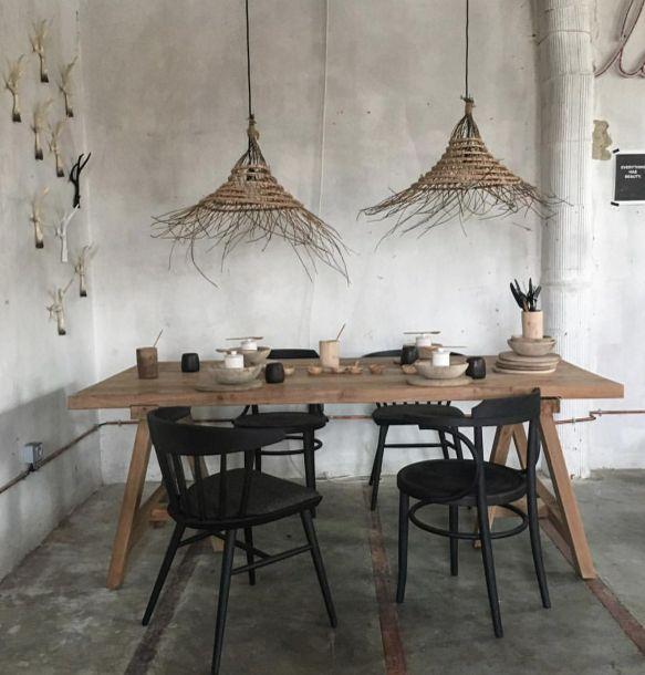 suspension palmier, la maison bernoise, osier, bambou, rock the kasbah