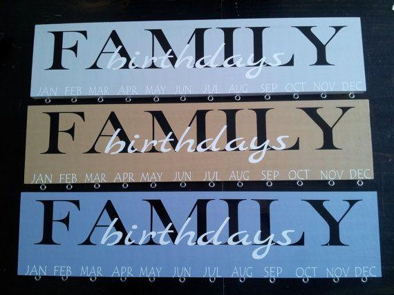 Familie Geburtstag Schild von CreativeHomeDecorMN auf Etsy