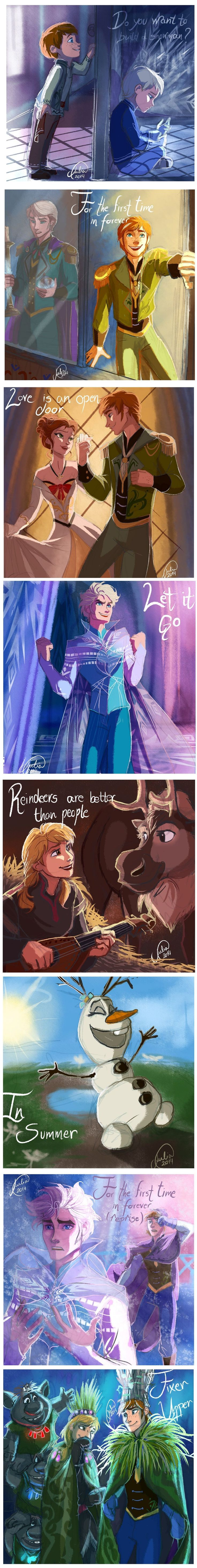 I kinda want to see a switched version of Frozen now....   The boys are super cute.....