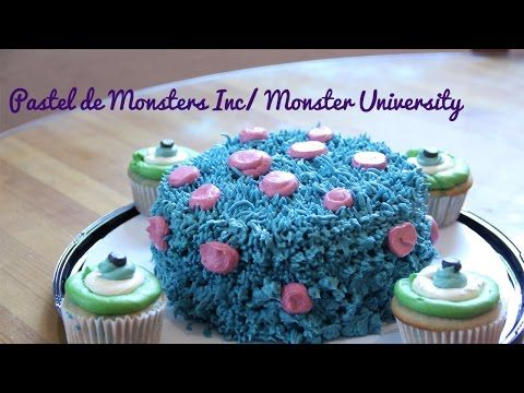 PASTEL DE MONSTERS INC + CUPCAKES// MONSTERS INC CAKE - YouTube