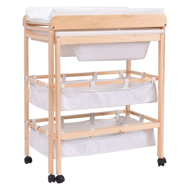 This Changing Table Will Be A Great Daily Companion For Mother And Child.  It Features An Integrated Bath Tub, Large Storage Compartments And Washable  ...