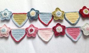 crochet bunting star pattern, FREE and stunning; Love this soooo much, yay xox