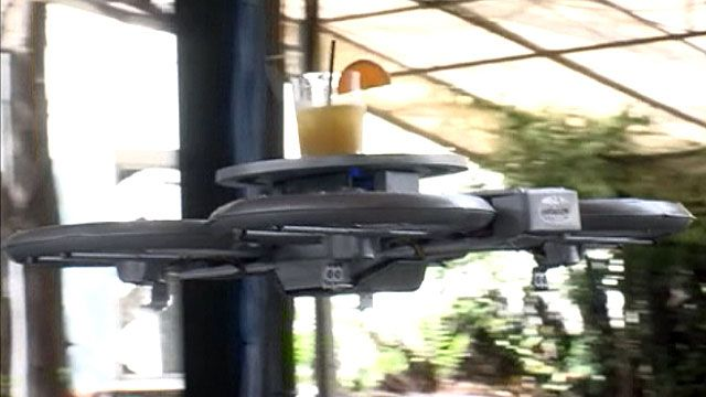 Una cadena de restaurantes usará drones en lugar de camareros para llevar la comida de la cocina a la mesa.