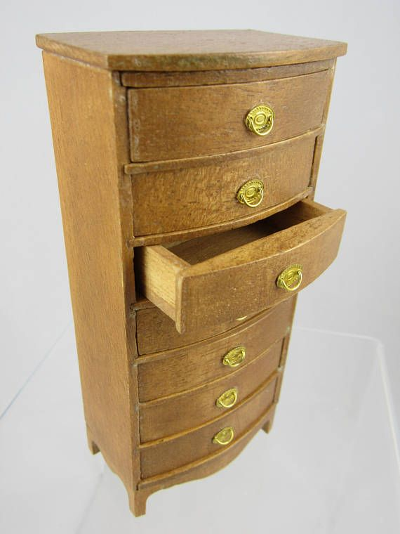 Miniature Chest Of Drawers Hand Crafted Miniature Dresser Tall Drawers
