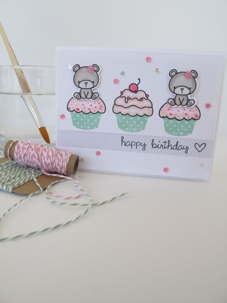 Carnival Cupcakes - Mama Elephant.  Card by Nicky Noo Cards https://www.facebook.com/nickynoocards/