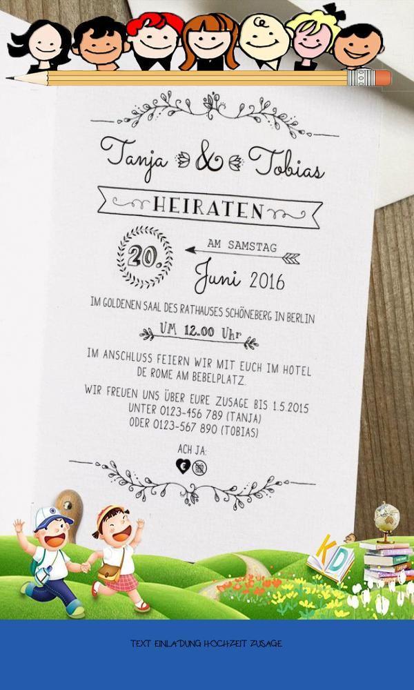 Primary 20 Text Einladung Hochzeit Zusage Di 2020