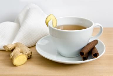 A recipe for ginger tea, a warming, spicy beverage that may help soothe your stomach after those heavy meals and sugary treats.